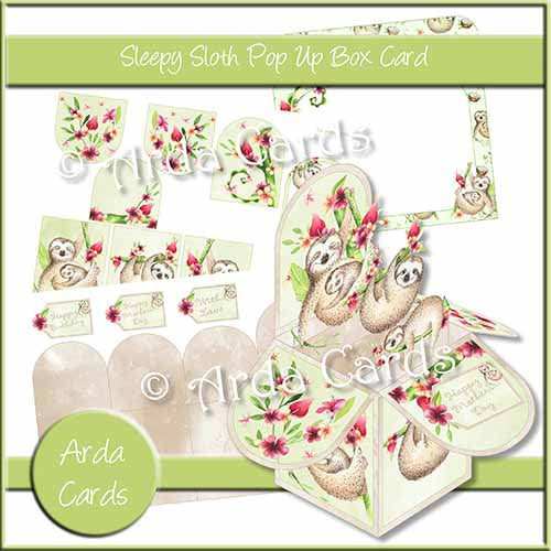 Sleepy Sloth Pop Up Box Card