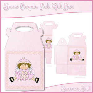 Snow Angels Pink Gift Box - The Printable Craft Shop