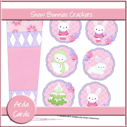 Snow Bunny Crackers - The Printable Craft Shop