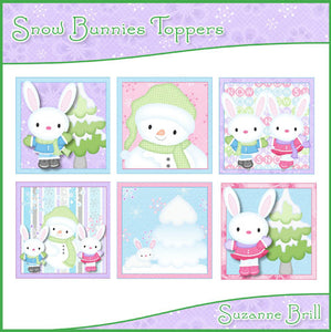 Snow Bunnies Toppers - The Printable Craft Shop