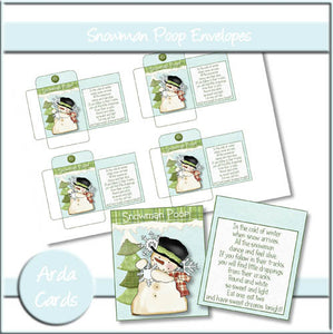 Snowman Poop Envelopes - The Printable Craft Shop