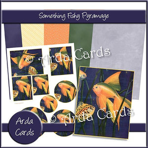 Something Fishy Pyramage Set - The Printable Craft Shop