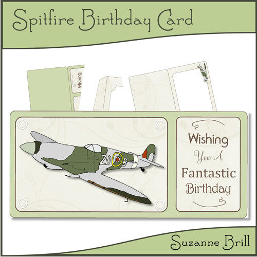 Spitfire Birthday Card - The Printable Craft Shop