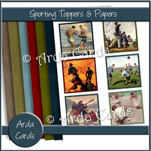 Sporting Toppers & Papers - The Printable Craft Shop
