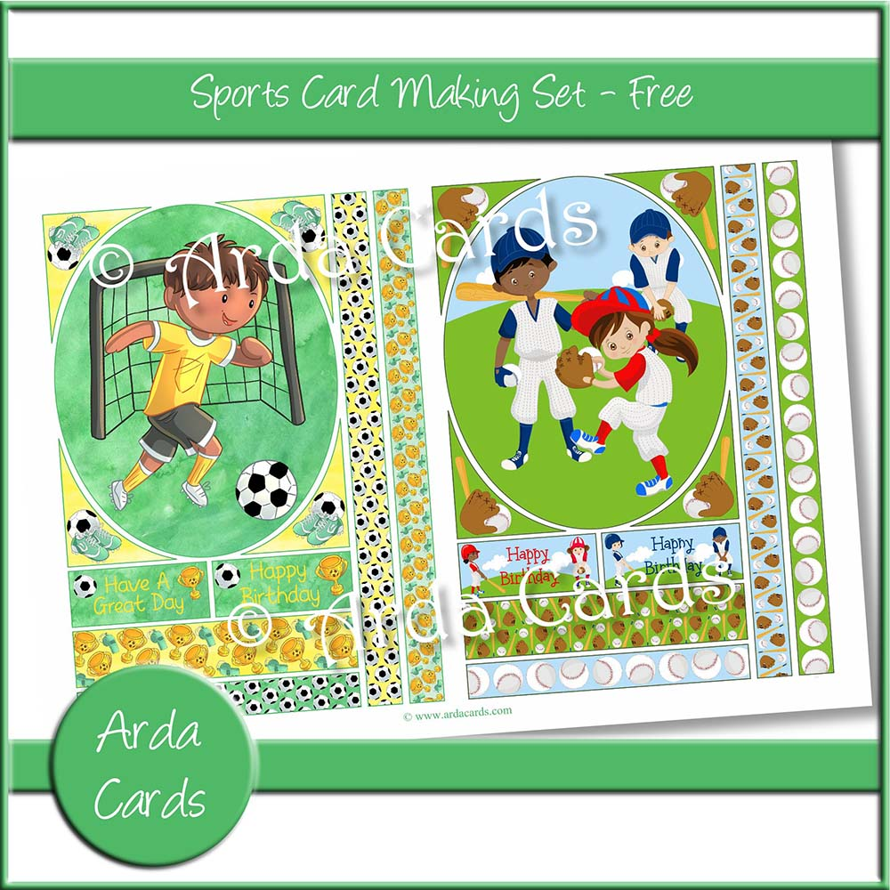 Sports Card Making Set - Free
