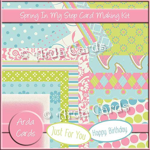 Spring In My Step Card Making Kit - The Printable Craft Shop