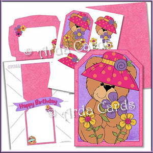 Spring Bear Printable Pop Out Banner Card - The Printable Craft Shop