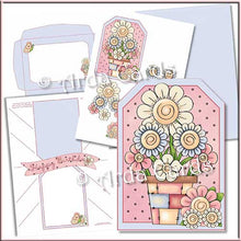 Load image into Gallery viewer, Spring Flowers Printable Pop Out Banner Card - The Printable Craft Shop