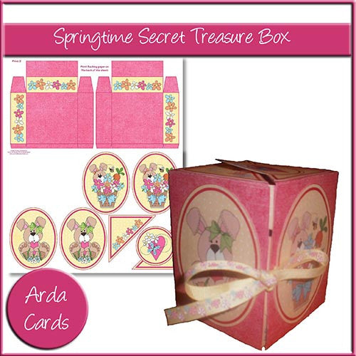 Springtime Secret Treasure Box - The Printable Craft Shop
