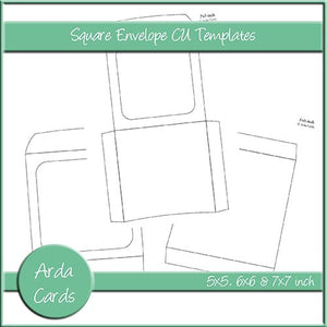Square Envelope CU Templates - The Printable Craft Shop