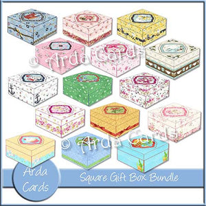 image relating to Printable Gift Box identified as Sq. Printable Reward Box Deal