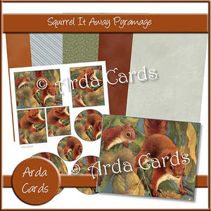 Squirrel It Away Pyramage Set - The Printable Craft Shop