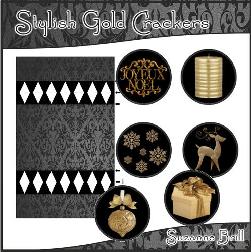 Stylish Gold Crackers - The Printable Craft Shop