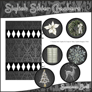 Stylish Silver Crackers - The Printable Craft Shop