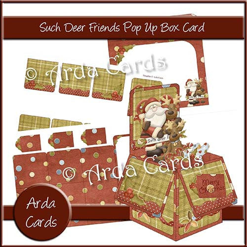 Such Deer Friends Pop Up Box Card - The Printable Craft Shop