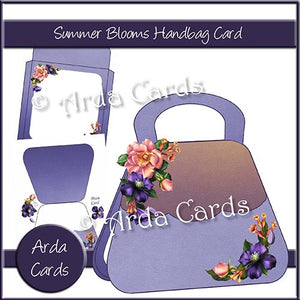 Summer Blooms Handbag Card - The Printable Craft Shop
