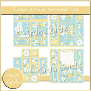 Sunshine & Daisies Neverending Card - The Printable Craft Shop