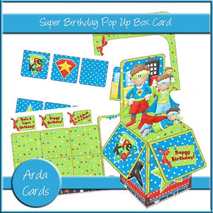 Super Birthday Pop Up Box Card - The Printable Craft Shop