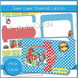 Super Duper Waterfall Card Kit - The Printable Craft Shop