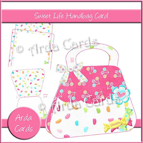 Sweet Life Handbag Card - The Printable Craft Shop