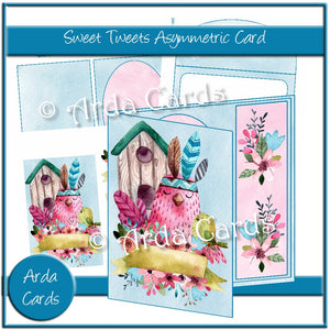 Sweet Tweets Asymmetric Card
