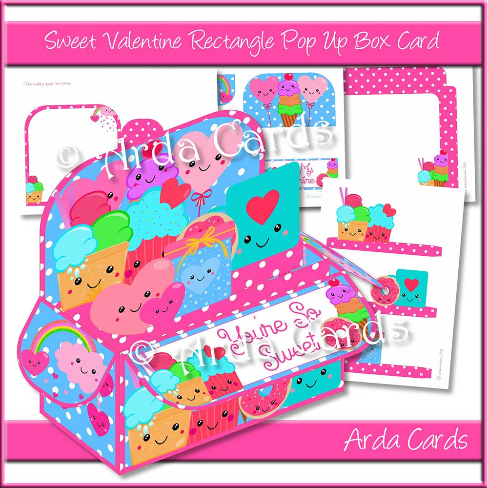 Sweet Valentine Rectangle Pop Up Box Card
