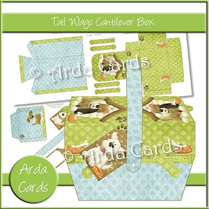 Tail Wags Cantilever Box - The Printable Craft Shop