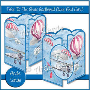 Take To The Skies Scalloped Gatefold Card Making Kit - The Printable Craft Shop