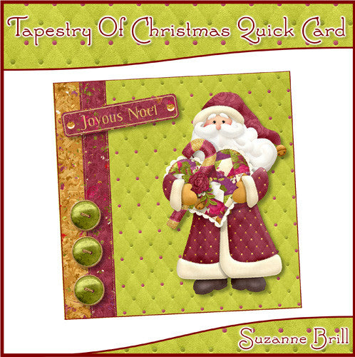 Tapestry Of Christmas Quick Card - The Printable Craft Shop