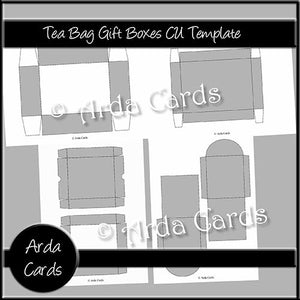 Teabag Gift Boxes CU Templates - The Printable Craft Shop
