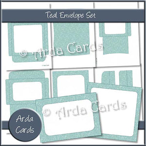Teal Envelope Set - The Printable Craft Shop