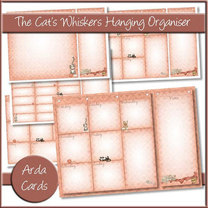 The Cat's Whiskers Hanging Organiser - The Printable Craft Shop