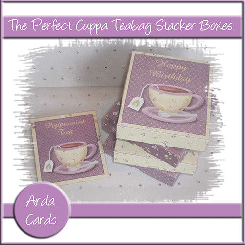 The Perfect Cuppa Teabag Stacker Boxes - The Printable Craft Shop