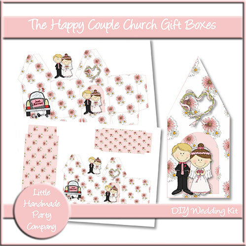 The Happy Couple Church Gift Boxes - The Printable Craft Shop