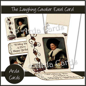 The Laughing Cavalier Easel Card - The Printable Craft Shop