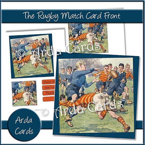 The Rugby Match Card Front - The Printable Craft Shop