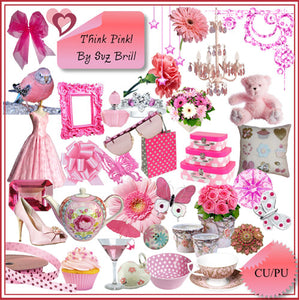 Think Pink CU Scrap Kit - The Printable Craft Shop
