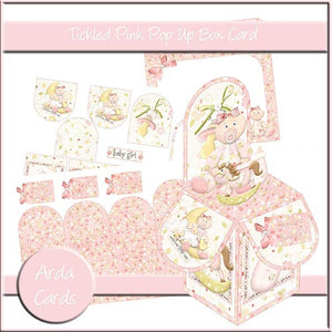 Tickled Pink Pop Up Box Card - The Printable Craft Shop