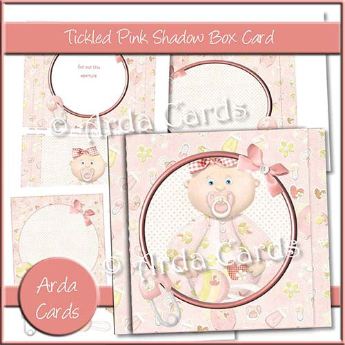Tickled Pink Shadow Box Card - The Printable Craft Shop