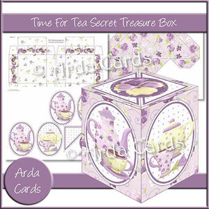 Time For Tea Secret Treasure Box - The Printable Craft Shop