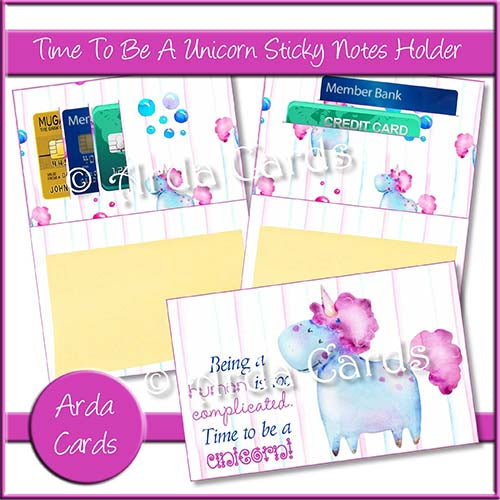 Time To Be A Unicorn Sticky Notes Holder