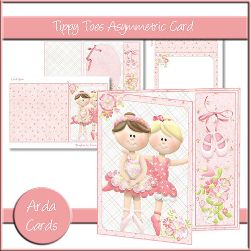 Tippy Toes Asymmetric Card - The Printable Craft Shop