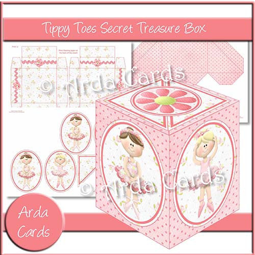 Tippy Toes Secret Treasure Box - The Printable Craft Shop