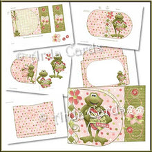 Load image into Gallery viewer, Toadally Lovable Printable D Flap Wrap Around Card - The Printable Craft Shop - 2
