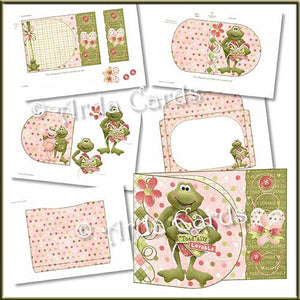 Toadally Lovable Printable D Flap Wrap Around Card - The Printable Craft Shop - 2