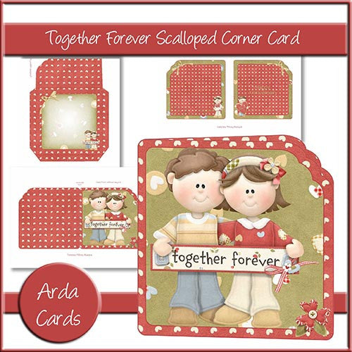 Together Forever Scalloped Corner Card - The Printable Craft Shop