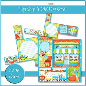 Toy Shop 4 Fold Flap Card - The Printable Craft Shop