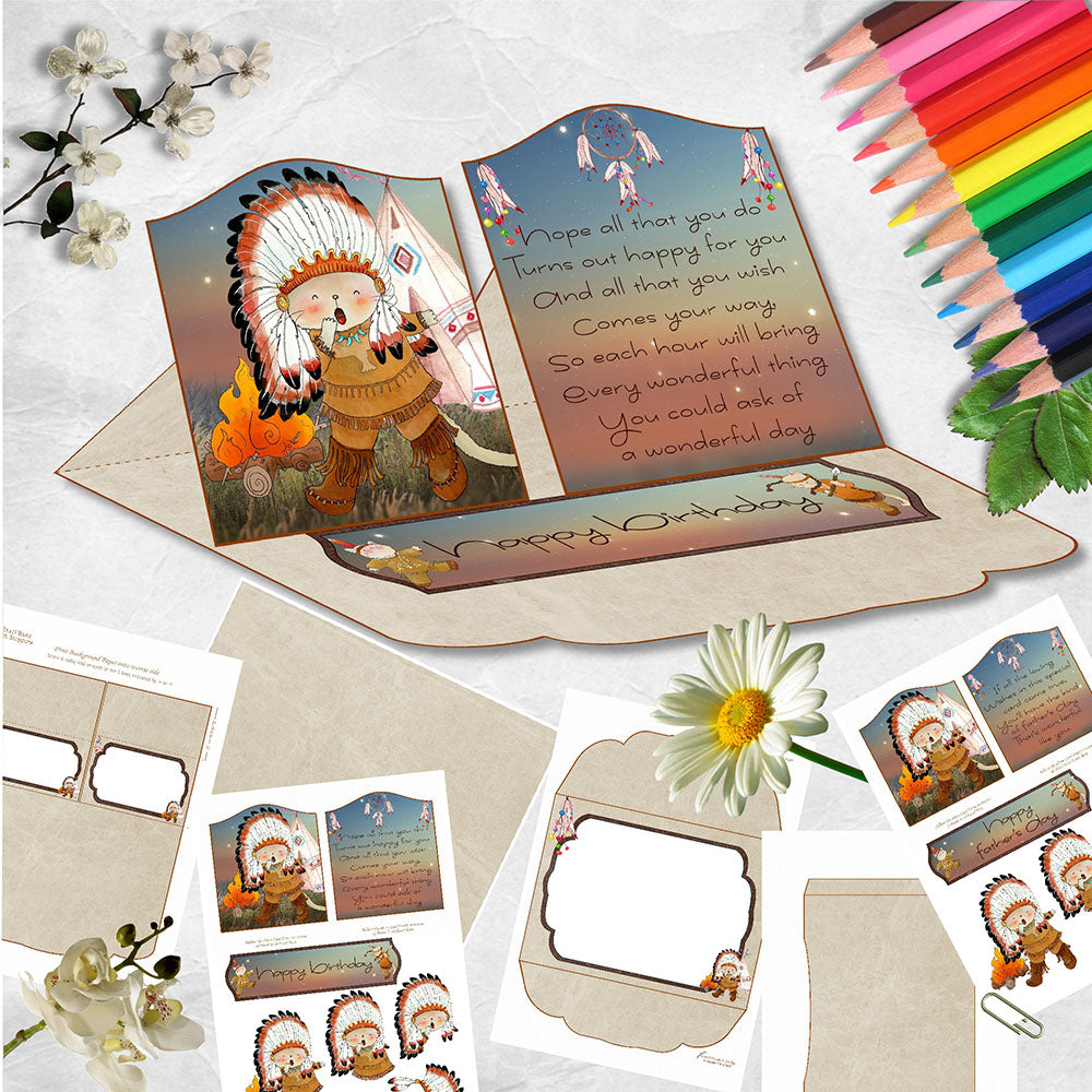 Tribal Dances Double Easel Card