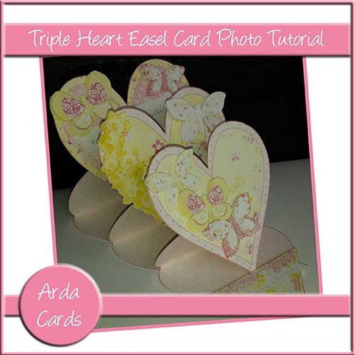 Triple Heart Easel Card Photo Tutorial - The Printable Craft Shop
