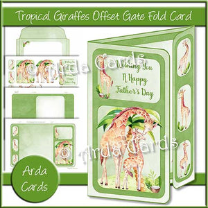 Tropical Giraffes Offset Gatefold Card
